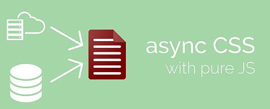 CSS Asynchron per Javascript laden